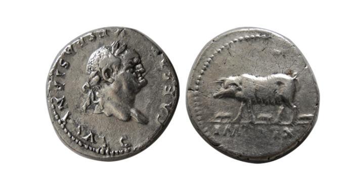 Ancient Coins - ROMAN EMPIRE. Vespasion. 69-79 AD. AR Denarius. Scarce !