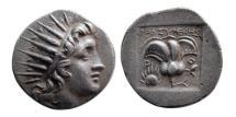 Ancient Coins - ISLANDS OF CARIA, Rhodos. Rhodes. Circa 170-150 BC. AR Drachm. Plinthophoric Coinage.