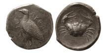 Ancient Coins - SICILY, Akragas. Circa 475-420 BC. AR Tetradrachm.