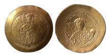 Ancient Coins - BYZANTINE EMPIRE. Constantine IX. 1042-1055 AD. Gold Histamenon Nomisma. Lustrous.