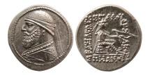 Ancient Coins - KINGS OF PARTHIA. Mithradates II. 121-91 BC. AR Drachm. Elegant style.