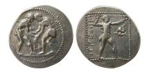 Ancient Coins - PAMPHYLIA, Aspendos. Circa 375-325 BC. AR Stater. Lovely strike.