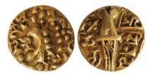 World Coins - INDIA, Post-Kushan. Kidarite Successors. Vinayaditya. Mid 5th-6th centuries AD. AV Dinar.