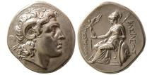 Ancient Coins - THRACIAN KINGDOM, Lysimachus. 323-281 BC. Silver Tetradrachm . Lampsakos. Lovely style.