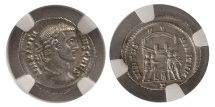 Ancient Coins - ROMAN EMPIRE. Galerius. 305-311 AD. AR Argentius. NGS-MS (Strike 4/5; Surface 5/5).