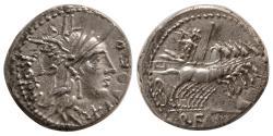 Ancient Coins - ROMAN REPUBLIC. Q. Fabius Labeo. 124 BC. Silver Denarius. Lovely example!