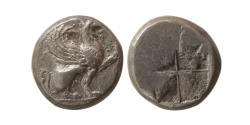 Ancient Coins - IONIA, Teos. Ca. 510-475 BC. Silver Drachm. Lightly toned.