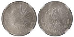 World Coins - MEXICO REPUBLIC. 1901 ZS FZ Silver Peso. NGC-MS 63.