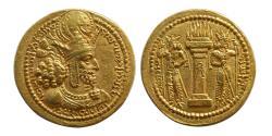 Ancient Coins - SASANIAN KINGS. Shahpur I. AD. 241-272. AV Dinar. Very Rare variety.