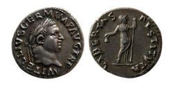 Ancient Coins - ROMAN EMPIRE. Vitellius. AD. 69. Silver Denarius. Rare.