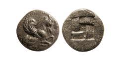 Ancient Coins - MYSIA, Lampsakos. Circa 500-450 BC. AR Diobol.