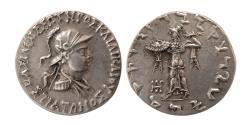 Ancient Coins - INDO-GREEK KINGS, Straton I. Ca. 110-85 BC. AR Tetradrachm. Lovely strike. Rare.