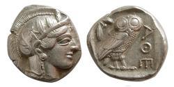 Ancient Coins - ATTICA, Athens. 440-404 BC. AR Tetradrachm. Full complete crest. Lustrous.