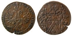 World Coins - NETHERLANDS, 1680. Æ Jeton.  Commemorating victory in the Turkish Wars.