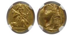 Ancient Coins - ACHAEMENID EMPIRE. Time of Xerxes II-Artaxerxes II. Circa 420-375 BC. AV Daric. NGC MS.