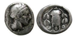 Ancient Coins - ATTICA, Athens. 393-300 BC. AR Hemidrachm.