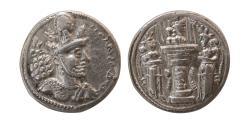Ancient Coins - SASANIAN KINGS. Shahpur II. 309-379 AD. Silver Drachm. Nice style.