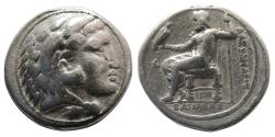 Ancient Coins - KINGS of MACEDON. Alexander III. 336-323 BC. AR Tetradrachm. Salamis mint.