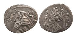 Ancient Coins - KINGS of PARTHIA. Phraatakes & Musa. 2 BC.-4 AD. AR Drachm. Ekbatana mint. Lovely strike. Rare.