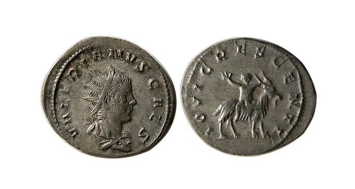 Ancient Coins - ROMAN EMPIRE. Valerian II. 253-255 AD. AR Antoninianus