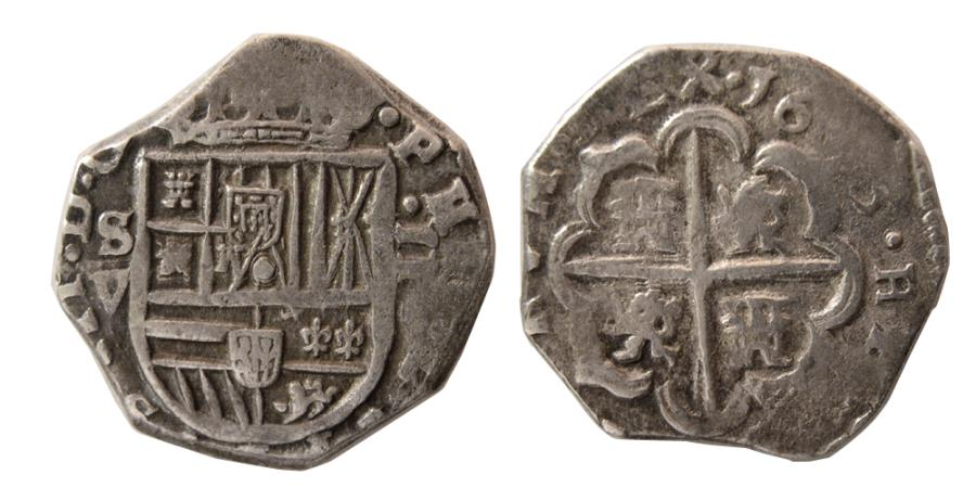 World Coins - SPAIN. 1613. AR 2 Reales. Seville mint. Dated 1613