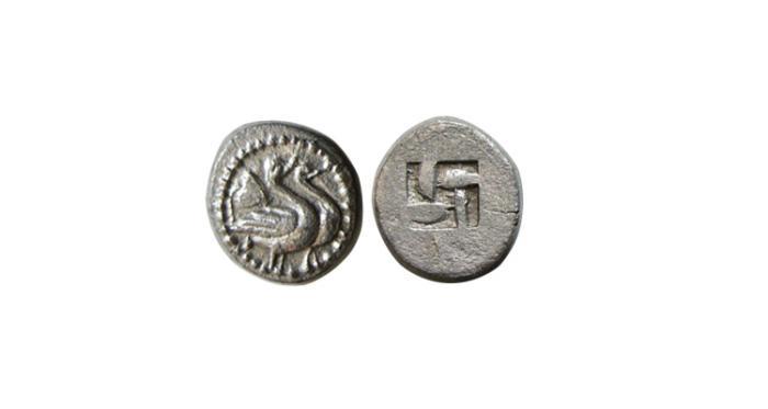 Ancient Coins - PANGAEAN DISTRICT. Eion. 5th century BC. AR Hemiobol