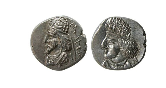Ancient Coins - KINGS of PERSIS. Manchir (Manuchtir) II. 2nd century AD. AR Hemidrachm
