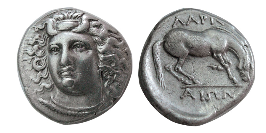 Ancient Coins - THESSALY, Larissa. Circa 356-342 BC. AR Drachm.