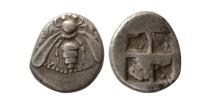 IONIA, Ephesus. Circa 500-420 BC. AR Drachm. Early issue. Rare.
