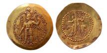 Ancient Coins - KUSHANO-SASANIAN. Hormizd I. Circa AD. 285-300. AV Dinar. Lovely strike.  Choice Superb EF.