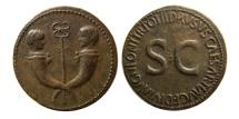Ancient Coins - ROMAN EMPIRE. Drusus, son of Tiberius. 22-23 AD. Æ Sestertius. Rare.
