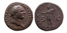 Ancient Coins - ROMAN EMPIRE. Vespasian. 69-79 AD. Æ Sestertius.