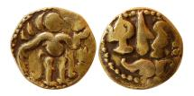 World Coins - SRI LANKA (CEYLON). Period of the Chola Invasion. Circa 990-1070. AV Aka – Eighth Kahavanu.