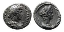 Ancient Coins - EGYPT, Alexandria. Hadrian, with Sabina. 117-138 AD. BI Tetradrachm. Rare.