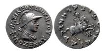 BAKTRIA, Indo-Greek Kingdom, Philoxenos. Ca. 125-110 BC. AR Tetradrachm. Rare.