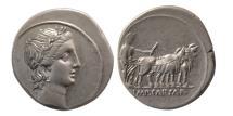 Ancient Coins - ROMAN EMPIRE; Octavian. 30-29 BC. Silver Denarius.