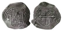 World Coins - MEXICO. 1655 Cob. AR 8 Reales. Mexico city. Lovely strike. Rare.