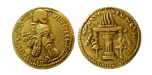 Ancient Coins - SASANIAN KINGS. Ardaxsir (Ardashir) I. AD 223/4-240. Gold Half Dinar. Extremely Rare. From the Sunrise Collection.