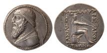 Ancient Coins - KINGS OF PARTHIA, Mithradates II. 121-91 BC. Silver Tetradrachm.