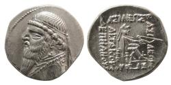 Ancient Coins - KINGS of PARTHIA. Mithradates II. 121-91 BC. AR Drachm.