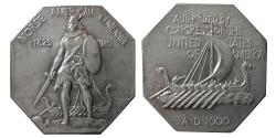 World Coins - UNITED STATES. 1925. Norse Silver Medal. Norse American Commemorative. Thin variety,