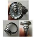 World Coins - Helios - A custom-made Silver Cameo Ring