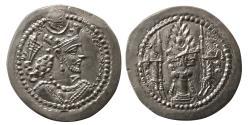 Ancient Coins - SASANIAN KINGS. Varahran V. (AD 420-438). AR Drachm. Perfect example.