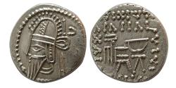 Ancient Coins - KINGS of PARTHIA. Vologases VI. AD. 207/8-221/2. AR Drachm. Choice strike. Rare this nice !