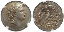 Ancient Coins - KINGDOM of MACEDON. Perseus. 179-168 BC. AR Tetradrachm. NGC-AU. Lovely strike.