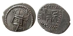 Ancient Coins - KINGS of PARTHIA. Vologases VI. AD. 207/8-221/2. AR Drachm.