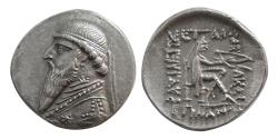 Ancient Coins - KINGS of PARTHIA. Mithradates II. 121-91 BC. AR Drachm. Lovely strike. Great style.