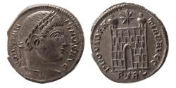 Ancient Coins - ROMAN EMPIRE. Constantine I. AD. 306-337. Æ Follis. Treveri (Trier) mint, AD 326. Lovely strike.