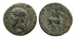 Ancient Coins - PARTHIAN EMPIRE. Mithradates I. 165-132 BC. Æ chalkous.