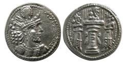 Ancient Coins - SASANIAN KINGS. Shahpur II. 309-379 AD. Silver Drachm. Lovely style. Lustrous.